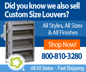 Custom Size Extruded Aluminum Louvers